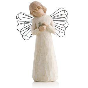 Willow tree angel of healing figurine with bird